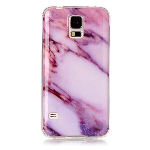 Felfy Custodia per Galaxy S5/S5 Neo,Galaxy S5/S5 Neo Cover Marmo,Custodia in Silicone per Galaxy S5/S5 Neo, novità Colorato Verniciato Marmo Serie Morbida Custodia TPU Silicone Case