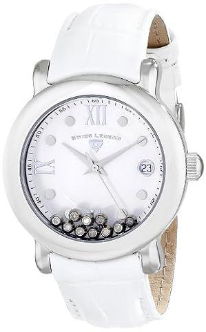 Swiss Legend Women's 22388-02 Diamanti Analog Display Swiss Quartz White Watch