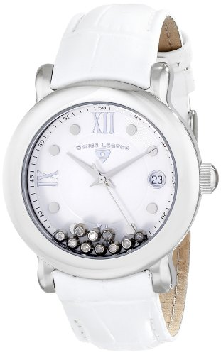 Swiss Legend Women's 22388-02 Diamanti Analog Display Swiss Quartz White Watch