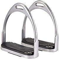 Zaote 2 Stück leichte Steigbügel Aluminium Druckguss sichere Steigbügel Pferd Bendy Eisen