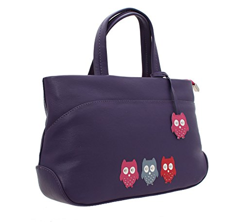 Mala Leder KYOTO Kollektion aus weichem Leder Grab-Bag mit Schultergurt 747_45 Lila Lila