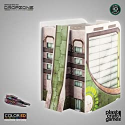 Plast Craft Games Dropzone Commander ColorED Miniature Gaming Model Kit 10 mm Corporation Building