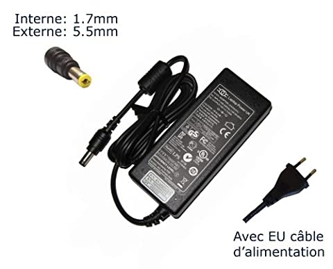AC Adaptateur secteur pour Ac Adapter for Acer Aspire As5251 5251-1513 5251-1805 ; As5517 5517-5078 5517-5086 5517-5136 5517-5358 5517-5427 5517-5535 5517-5661 5517-5671 ; As5520 ; As5532 ; As5534 ; As5535 ;
