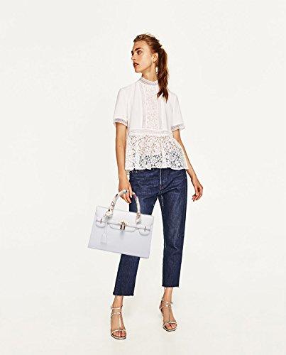 Sunas 2017 Nuova borsa borsa tracolla grande modello trasversale pacchetto borsa Platinum Grande sacchetto bianco