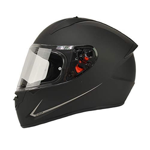 MT Stinger Integralhelm matt schwarz Größe M | Roller/Motorrad Helm Klapphelm 2mm Vizier kratzfest | inkl. eingebaute Lautsprechertaschen und kostenloser Helmmütze