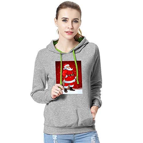 TEBAISE Damen Weihnachten Hoodie Schnee Kapuzenpullover Weihnachten Langarm Kapuzenshirt Lässig...