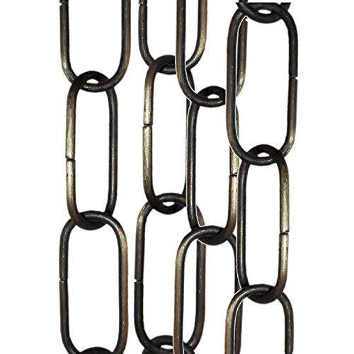 3 unidades de cadena de 50 cm para lámpara de techo, espejo o cadena de suspensión en acabado de latón antiguo