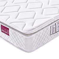 DOSLEEPS 9-Zone Pocket Sprung Mattress with Memory Foam and 3D Breathable Fabric - Orthopaedic Mattress - Thickness:10.6Inch,White