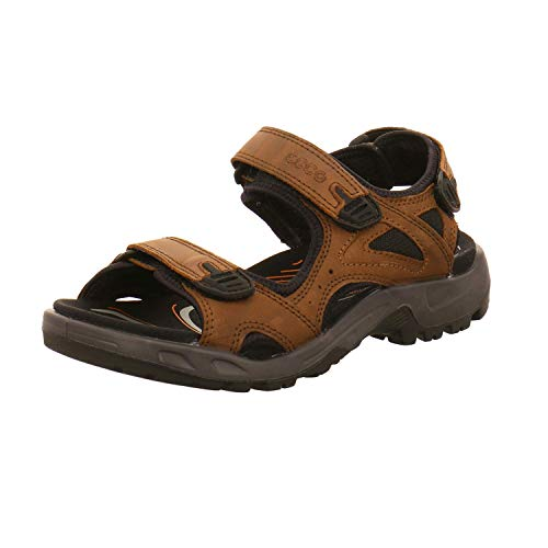 Ecco Offroad Peeptoe - Sandalias para Hombre, Color marrón, Color Marrón, Talla 40 EU