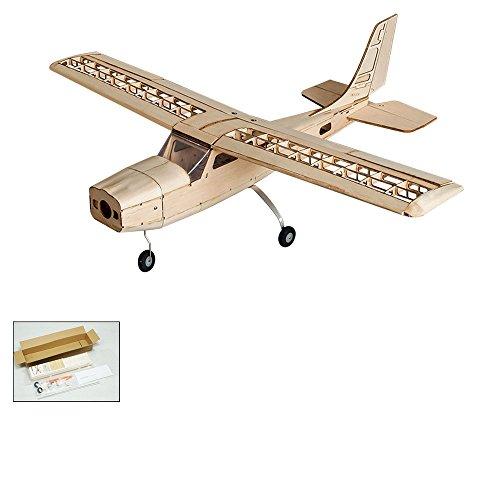 DW Hobby Fernbedienung Flugzeug, Cessna 150Modell, Flugzeug, RC Flying Flugmodell Kits zu Bauen, 960mm Spannweite Laser Geschnitten balsawood RC Flugzeug für Erwachsene Training (Balsa-flugzeug-modelle)