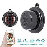 WANGLAI Drahtlose WiFi-Kamera, Haussicherungssystem, Zwei-Wege-Audio- / Nachtsicht-Fernbedienung für Baby/Holunder/Pet/Office-Monitor (Black)