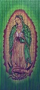 Madonna Virgin Mary Bamboo Bead Curtain by Callaloo