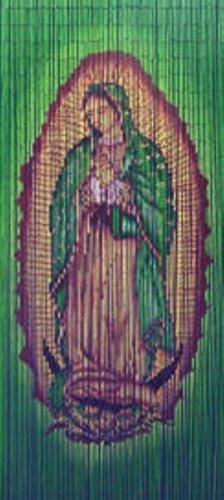 Cortina de cuentas de bambú Virgen María Madonna
