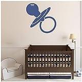 azutura Dummy Wandtattoo Baby Wand Sticker Kinderbetreuung Wohnkultur verfügbar in 5 Größen und 25 Farben Klein Moos Grün