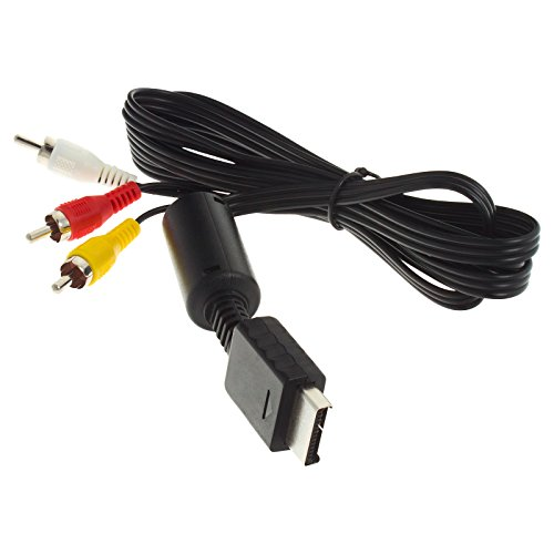 Smartfox 3-Cinch RCA AV-Kabel für Sony Playstation PS1 Slim PS2 Slim PS3 Slim