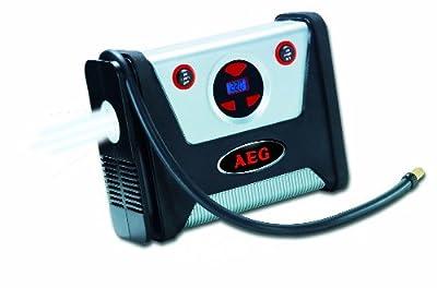 AEG 97136 Kompressor KD 7.0 - mit digitaler Druckvorwahl und Abschaltfunktion, LED-Beleuchtung, 12 Volt, max. 7 bar / 100 psi, inkl. Zubehör