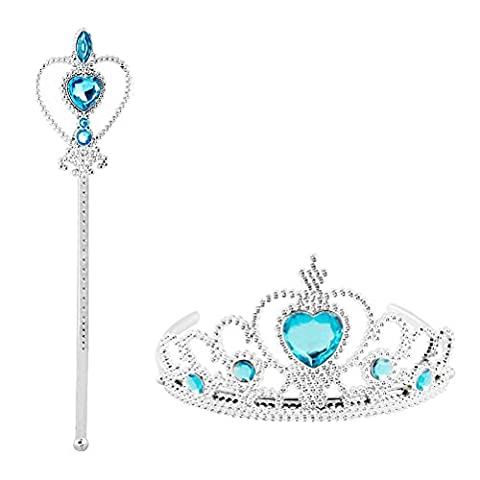 Costume La Reine Des Neiges - Vicloon Elsa 2 Pièces Cadeau Set,Princesse La