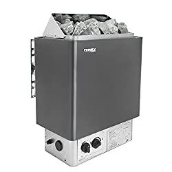 Electric Sauna Heater - Spa Heater with Heat Rocks - Built-In Thermostatic Control - Heats Up Quickly - Automatic Safety On/Off Timer - Supports Body Detox & Weight Loss (6.0KW Including Stones)