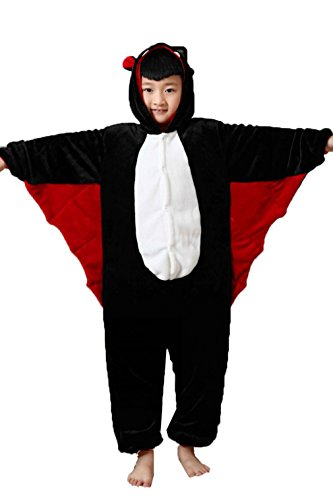 Z-Chen Disfraz de Pijama Animales para Niños, Murciélago, 9-11 Años, (Tamaño de manufactura 125/140)