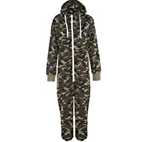 Fashion Oasis Kids Army Camo Print Onesie Hooded Jumpsuit All in One Boys Girls Fleece Ages 2-3, 3-4, 5-6, 7-8, 9-10, 11/12, 13/14 Years (2 Years)