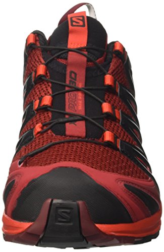 Salomon XA Pro 3D, Scarpe da Trail Running Uomo Rosso (Red Dalhia/fiery Red/black Red Dalhia/fiery Red/black)