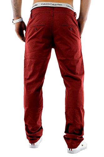 Herren Chino Hose Regular Fit Passform · Schicke Sommerhose · Chino Stretch Jeans · Baumwoll-Elasthan-Mix · Straight Leg · Große Farbauswahl H1245 Rot