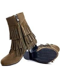 KUKI otoño y las mujeres de invierno botas de plomo botas botas de cremallera botas baratas botas ligeras ocasionales...