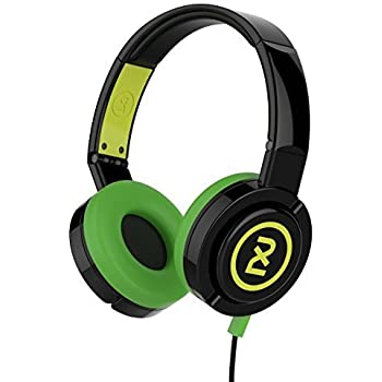Skullcandy X6DPHY-866 2XL Barrel Over Ear Headphone With Mic (Green and Black)