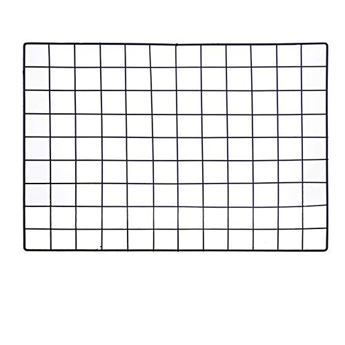 ShouYu DIY Grid Photo Wall,Multifonctionnel Mesh Panneau,Ins murale photo Décoration,Shelving Mesh Display Organizer (65*45cm,Noir)