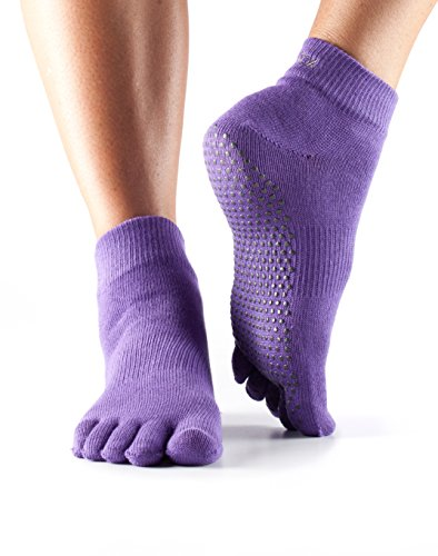 Toesox Unisex Toe Ankle ToeSox Toe Ankle Socks - Light Purple, Medium