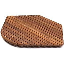 AsinoX TEK3A5858R - Tarima de ducha y baño, madera de teca