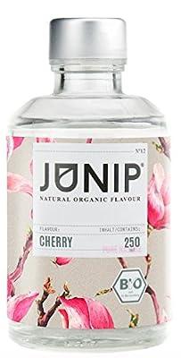 Infuseur bouteille de thé, eau et cocktail JUNIP | 100% BIO sans additifs artificiels ni sucres ajoutés | Faible en calories | cerise