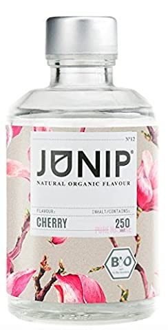 Bio Cherry Aroma Concentrated for Water, Cocktail Drinks - Food Fragrance for a 100% Organic Vegan Taste - no Sugars or Carbohydrates - Few Calories - Made in Germany by Junip