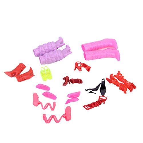 Gazechimp Set 11 Paires Chaussures à Hauts Talons Botte Sandale Décor Pour Poupées Barbie Dolls 0645789902895
