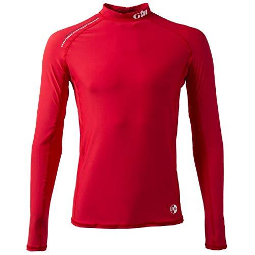 Gill Pro Rash Weste Top RED - Easy Stretch UV Sonnenschutz und SPF Eigenschaften Langarm -