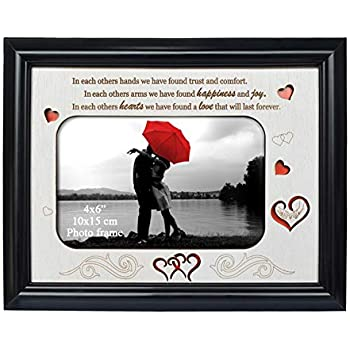 Mr /& Mrs Glass 6 x 4 Photo Frame with Mirror /& Glitter Letters