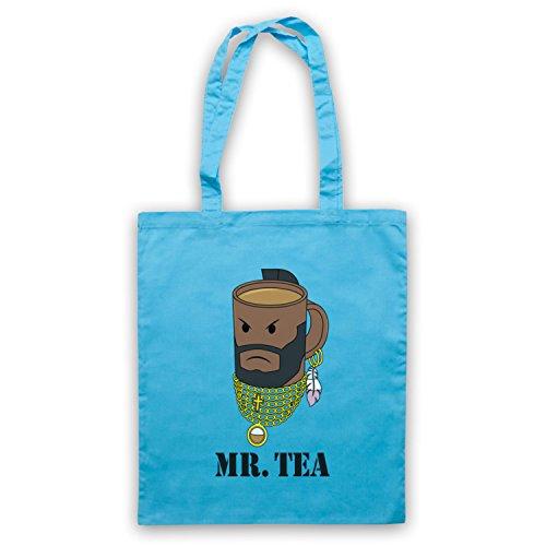 Mr Tea Graphic Illustration Umhangetaschen Hellblau