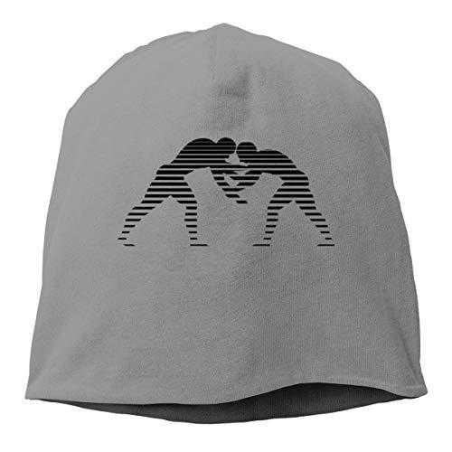YingaiOK Oiir Ooiip Striped Wrestling Mens' Skull Cap Beanie Hat Winter - Striped Mesh Back Cap