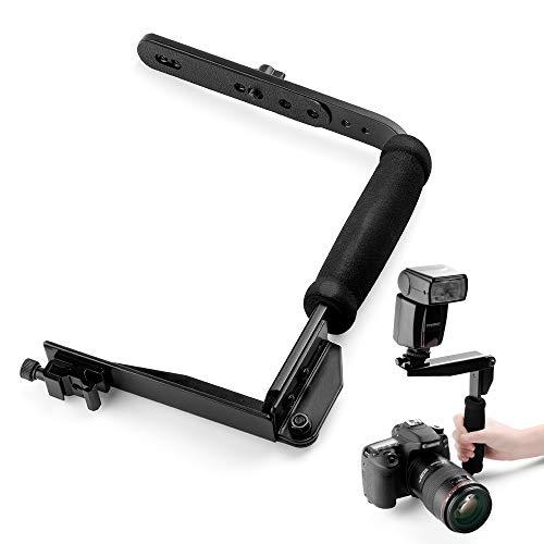 Fotover Quick Flip Rotating Blitzschiene Blitzhalter kompatibel mit Digitale Spiegelreflexkameras Punkt und schie?en Sie Kameras und...