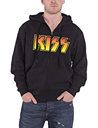 Kiss Vintage Logo Official Unisex Zip-Up Hoodie (Black)