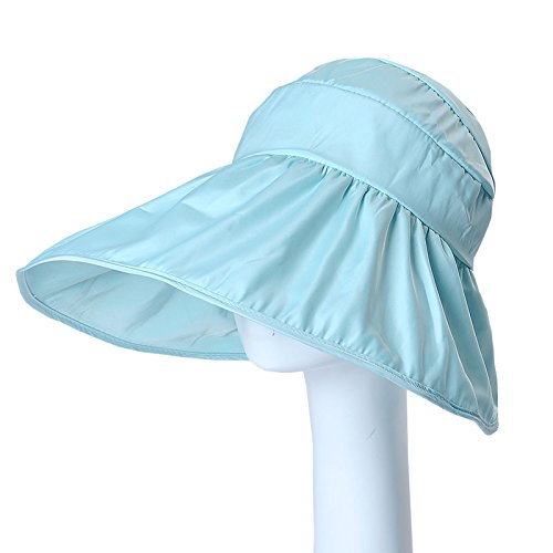 Cap soleil d'enfants cor¨¦ens chapeaux UV ext¨¦rieur pare-soleil plage pliage compact grand lanai le long de la PAC - l'amour du bleu marine Sky Blue