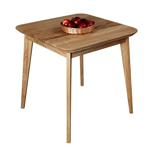 Krokwood Paris Massivholz Esstisch in Eiche 75x75x75 cm FSC100{8cd12980751b956470f92fc5a8926617afa990d9c0426f446fbacdf79d6eb962} massiv Tisch geölt Eichenholz Esszimmertisch Küche praktischer Küchentisch Holztisch vom Hersteller