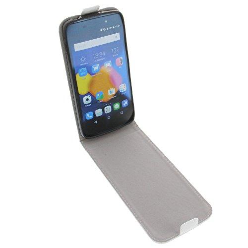 foto-kontor Tasche für Alcatel One Touch Idol 3 4.7 Smartphone Flipstyle Schutz Hülle Weiß