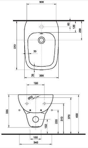 Ceravid MarkenSet design Bidet, wandhängend Ceravid, C72505000