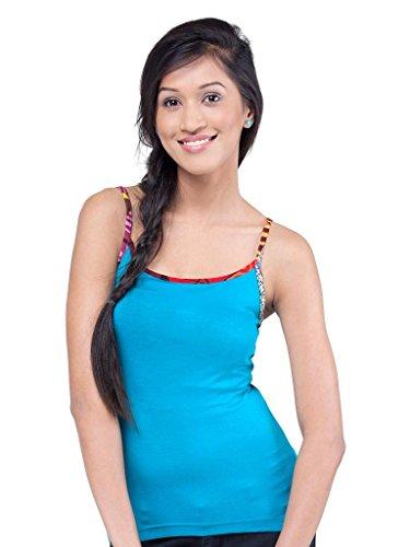 AforF Women's Cotton Lycra Styish Camisoles (JXWC_mid turquoise_X-Large)