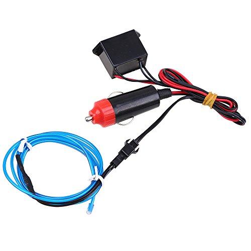 Possbay EL Wire Neon Beleuchtung Innenbeleuchtung 2M Mit 12V Inventer Fuer Auto Weihnachtsfeiern Halloween