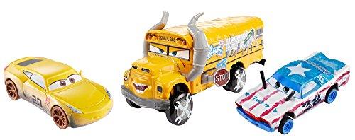 Mattel Disney Cars FBP88 - Disney Cars 3 Die-Cast 3er-Pack 2 x 1:55, 1 x Oversized - Cruz Ramirez als Frances Beltline, Cigalert, Miss Fritter (Cars 2 Disney Diecast)