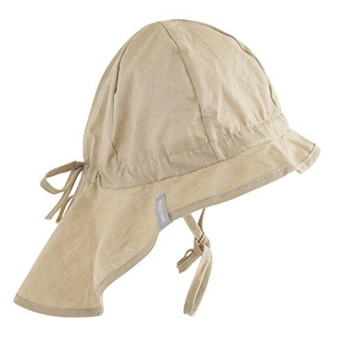 Melton - Sonnenhut mit Nackenschutz UV 30+, uni, Cappello da sole da unisex bimbo, beige (sand 415), 116 (Taglia produttore: 55)