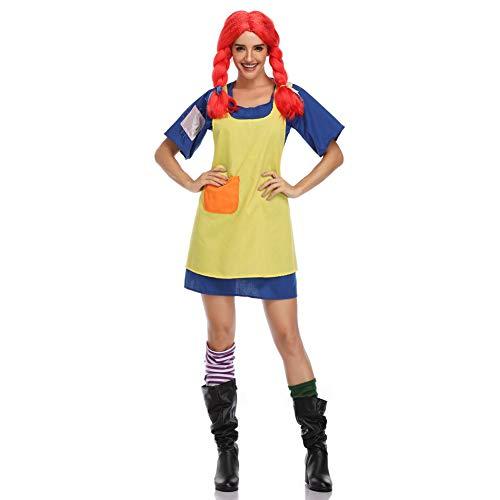 Girl Kostüm Cute Cosplay - FGDJTYYJ Halloween Cosplay Kostüm, Erwachsene Frau Naughty Girl Cosplay Cute Kostüm Spiel Anime Cosplay (Kleid + Schürze + Socken),L