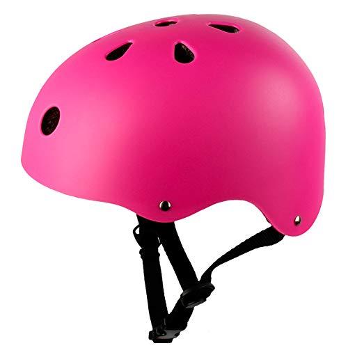 ZWYY Kids Bike Helme, Childrens Urban Skate Helmet Skating Skating Stunt Scooter Safety Helmet Adjustable Mountain Cycling Helm,pink,M